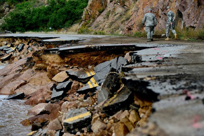 U.S. Highway 36 Colorado flood damage