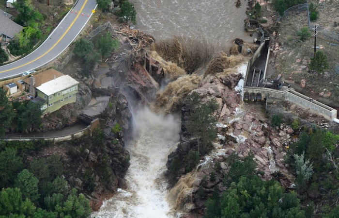 Aerial images from the Colorado Floods