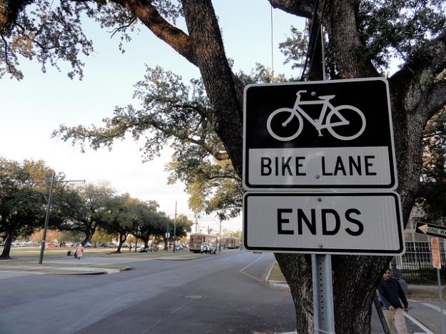 Bike Lane Ends